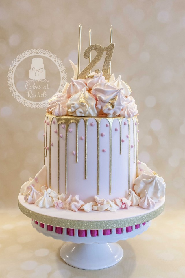 Pictures Of Birthday Cakes For Adults Pastel Pink And Gold Drip Cake For Francescas 21st Birthday Cake