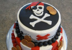 Pirate Birthday Cake Pirate Cake Buttecream With Fondant Decorations Thank You For The