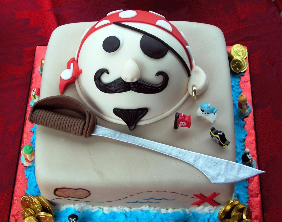 Fine Pirate Birthday Cake Pirate Themed Birthday Cake Protoblogr Design Birthday Cards Printable Inklcafe Filternl
