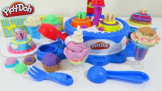 Play Doh Birthday Cake Play Doh Cake And Ice Cream Confections Playset 40 Accessories