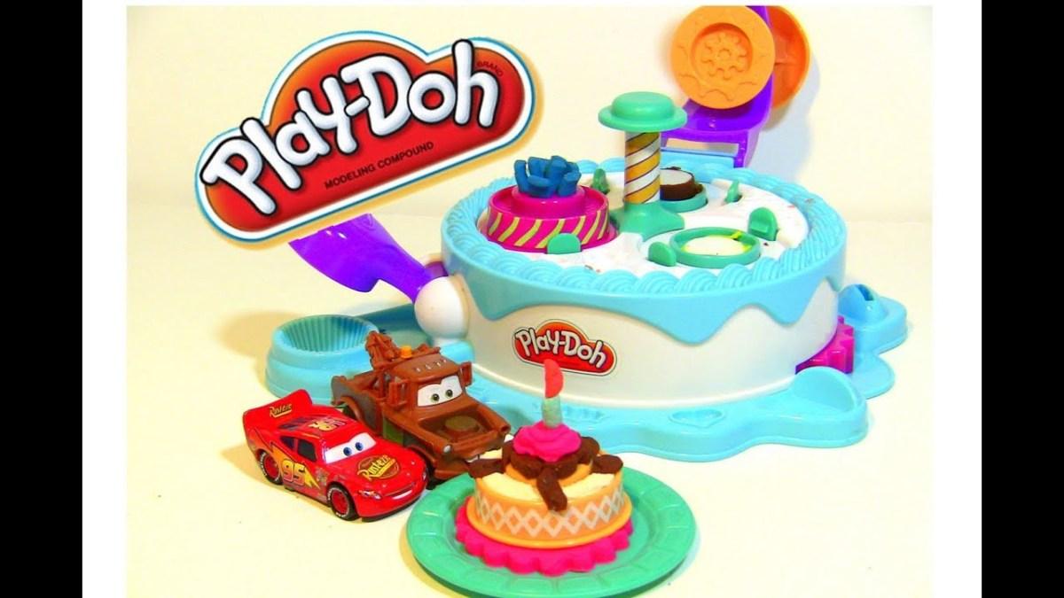Pleasant Play Doh Birthday Cake Play Doh Cake Lightning Mcqueen Makes Play Personalised Birthday Cards Veneteletsinfo