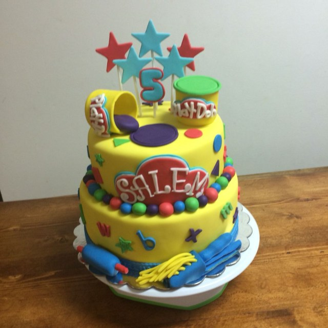 Play Doh Birthday Cake Play Doh Cake My Cake Creations Pinterest Play Doh Party Play