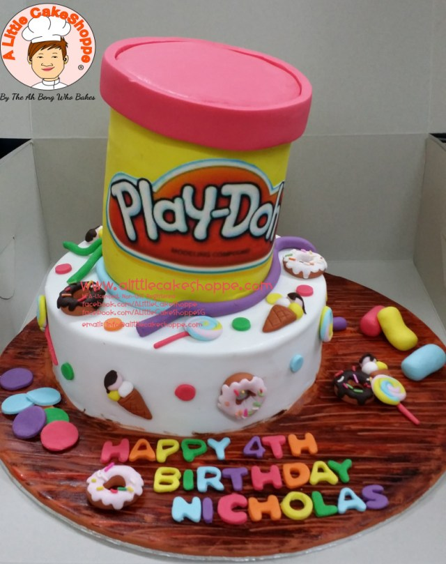 Play Doh Birthday Cake Playdoh A Little Cakeshoppe Singapore Customized 2d And 3d Cakes