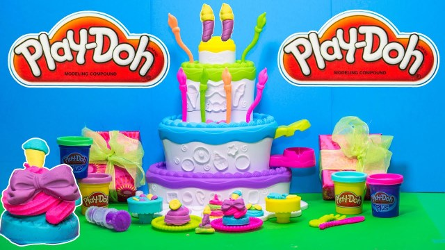 Play Doh Birthday Cake The Play Doh Cake Mountain Birthday Party Toy Review Youtube