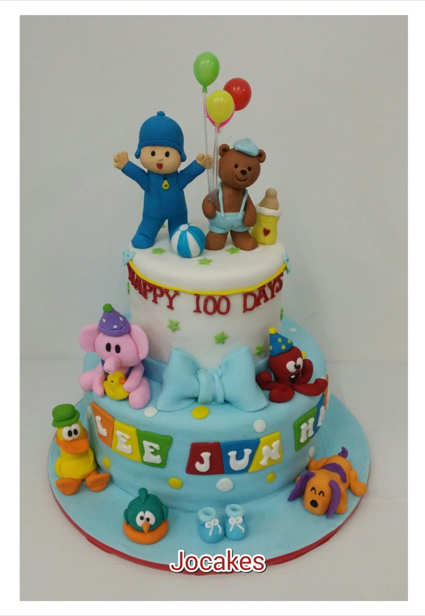 Outstanding Pocoyo Birthday Cake Pocoyo And Friends Cake Jocakes Birijus Com Funny Birthday Cards Online Elaedamsfinfo
