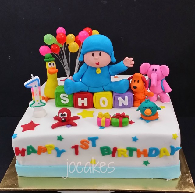 Phenomenal 21 Great Picture Of Pocoyo Birthday Cake Birijus Com Funny Birthday Cards Online Elaedamsfinfo