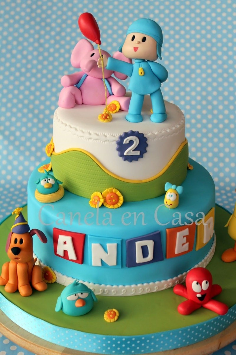 Terrific Pocoyo Birthday Cake Pocoyo Y Amigos 2 Pisos Birthday Ideas Funny Birthday Cards Online Elaedamsfinfo