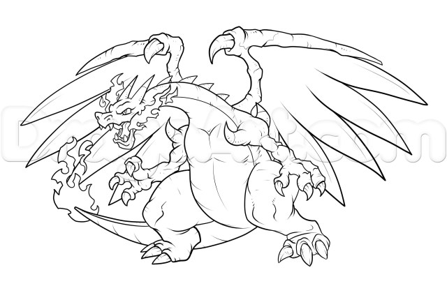 Pokemon Color Pages Pokemon Coloring Pages Mega Charizard Ex Coloring Page Coloring Home
