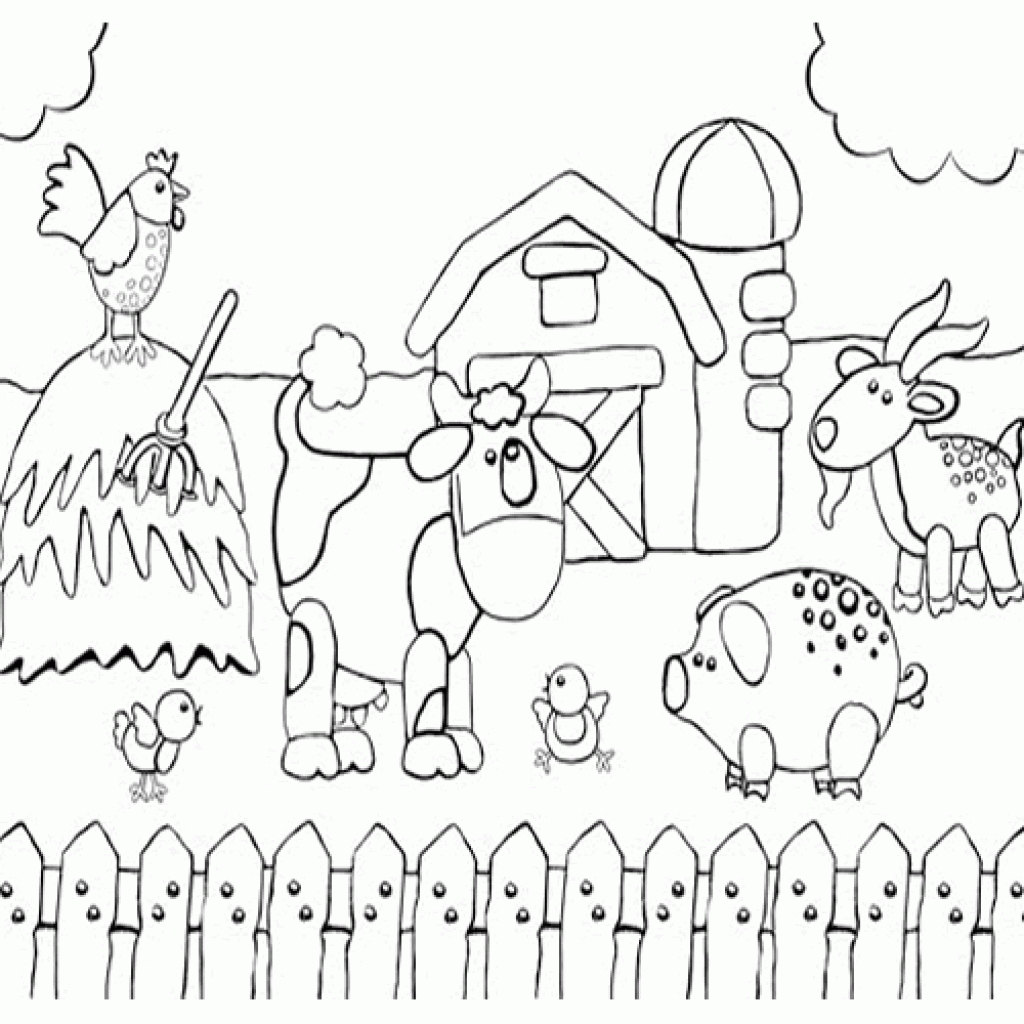 Farm Animal Coloring Archives - Coloring pages for kids on Coloring -Forkids.com | 1024x1024