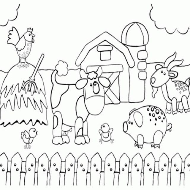 Preschool Coloring Pages Farm Coloring Page Printable Preschool Coloring Page Of Happy Farm