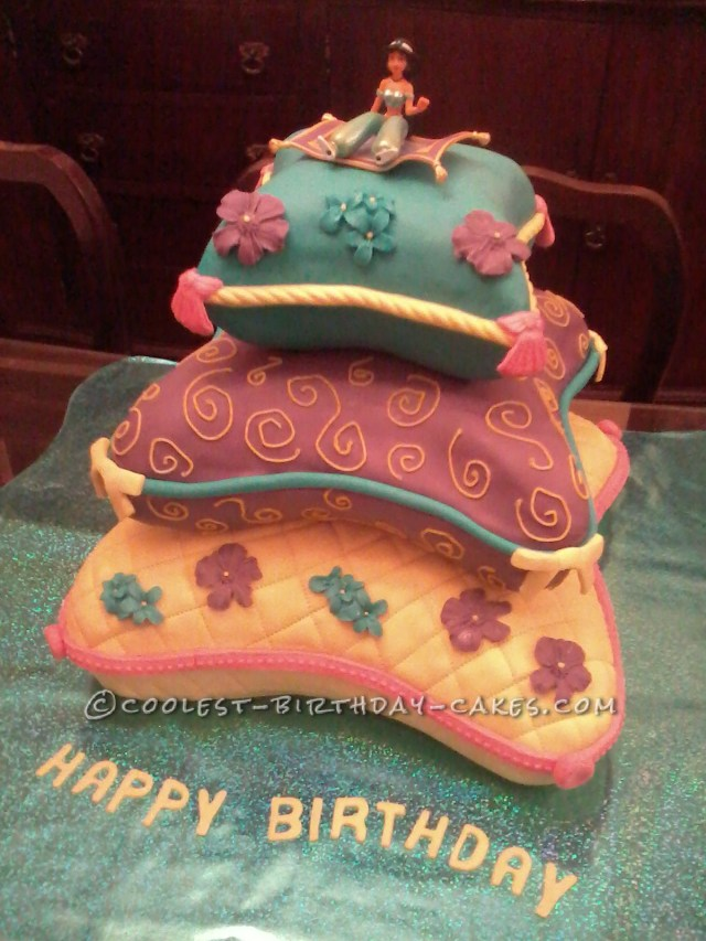Princess Jasmine Birthday Cake Awesome Jasmine On Comfy Cushions Cake