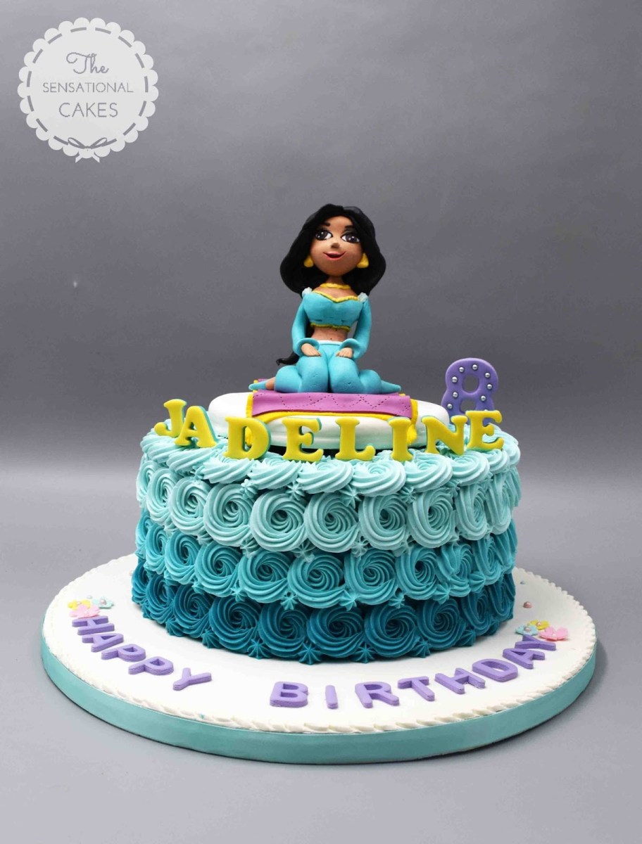 Swell Princess Jasmine Birthday Cake The Sensational Cakes Princess Personalised Birthday Cards Petedlily Jamesorg