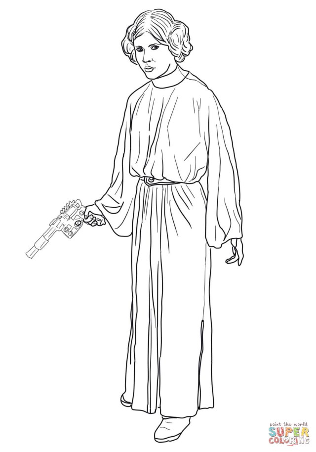 Princess Leia Coloring Pages Princess Leia Coloring Page Free Printable Coloring Pages