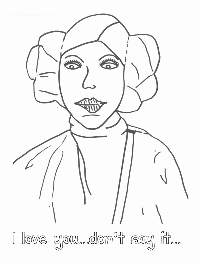 Princess Leia Coloring Pages Princess Leia Coloring Pages For Kids Printable Coloring Page For Kids