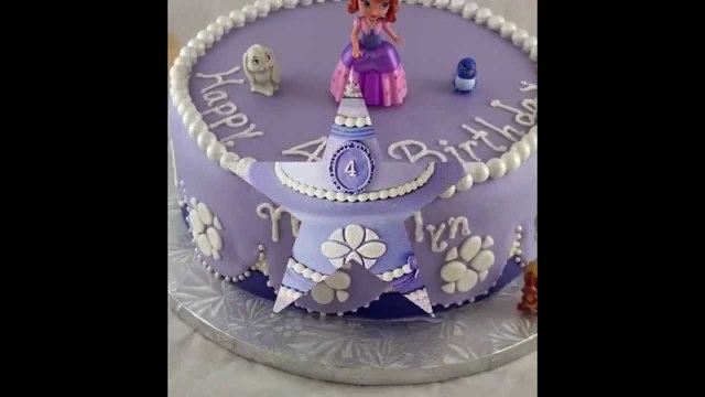 Princess Sofia Birthday Cake Sofia Princess Birthday Cake Is Beautiful And Sweet Youtube