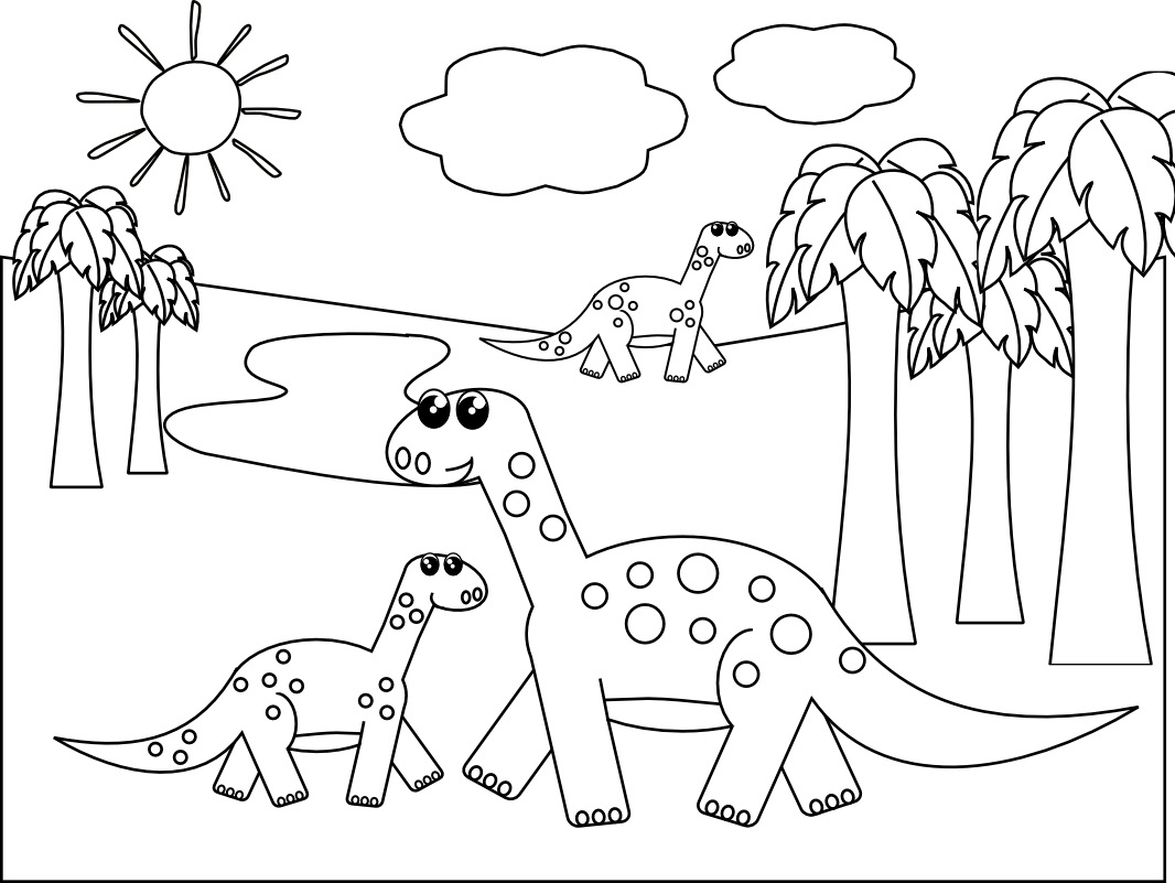Printable Dinosaur Coloring Pages Dinosaur Coloring Pages For Toddlers At Getdrawings Free For