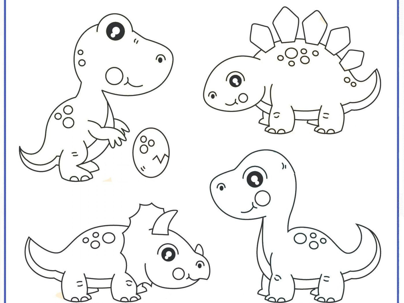 Coloring And Drawing Dinosaurs Coloring Pages For