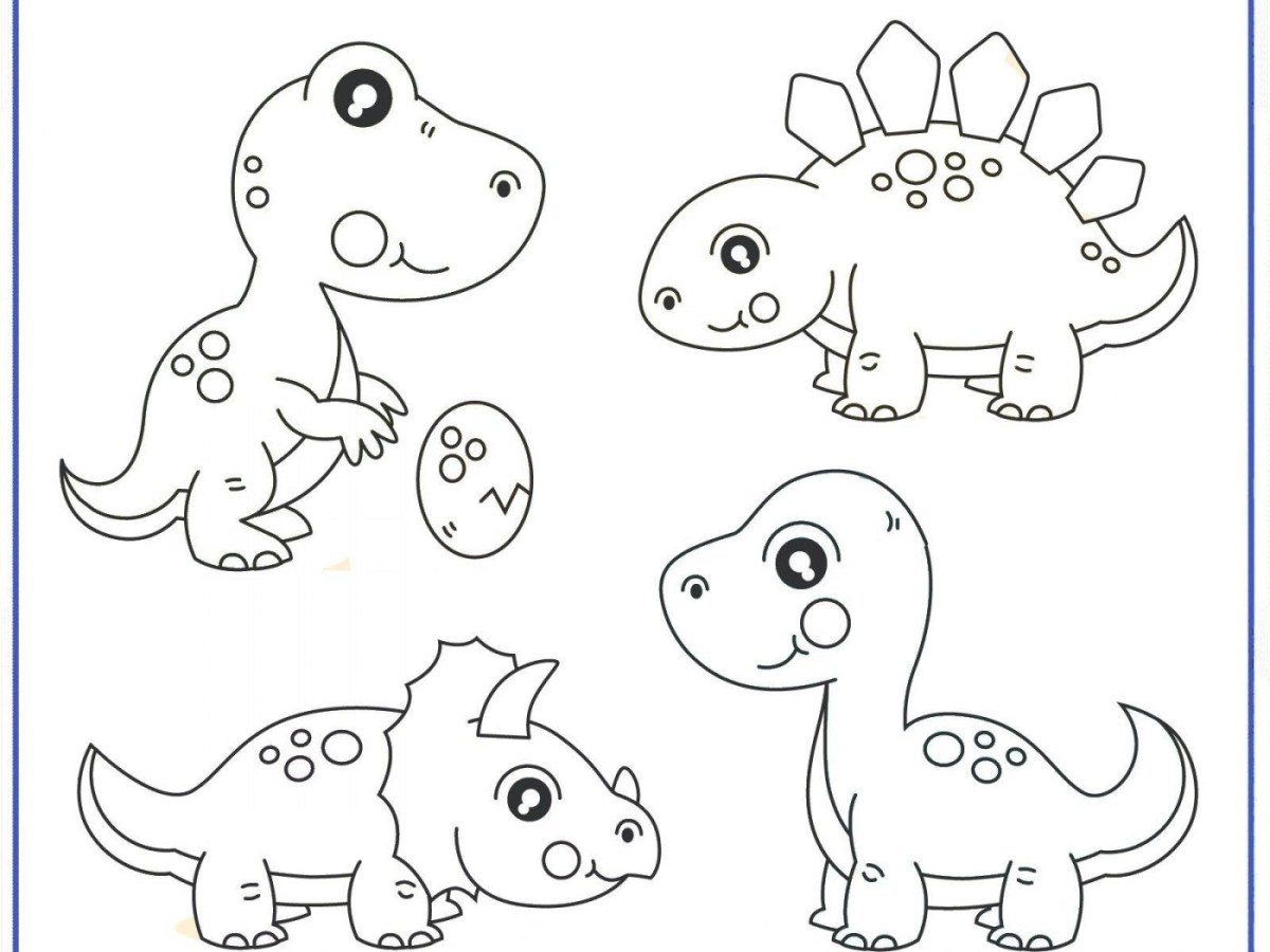 Printable Dinosaur Coloring Pages Dinosaurg Pictures