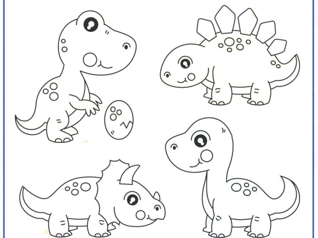 Printable Dinosaur Coloring Pages Dinosaurg Pictures Preschool Pages Free Printable For Toddlers Ba