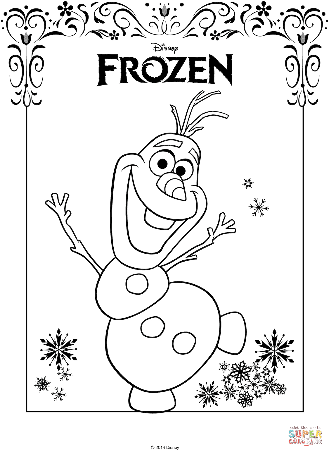 - Printable Frozen Coloring Pages The Frozen Coloring Pages Free