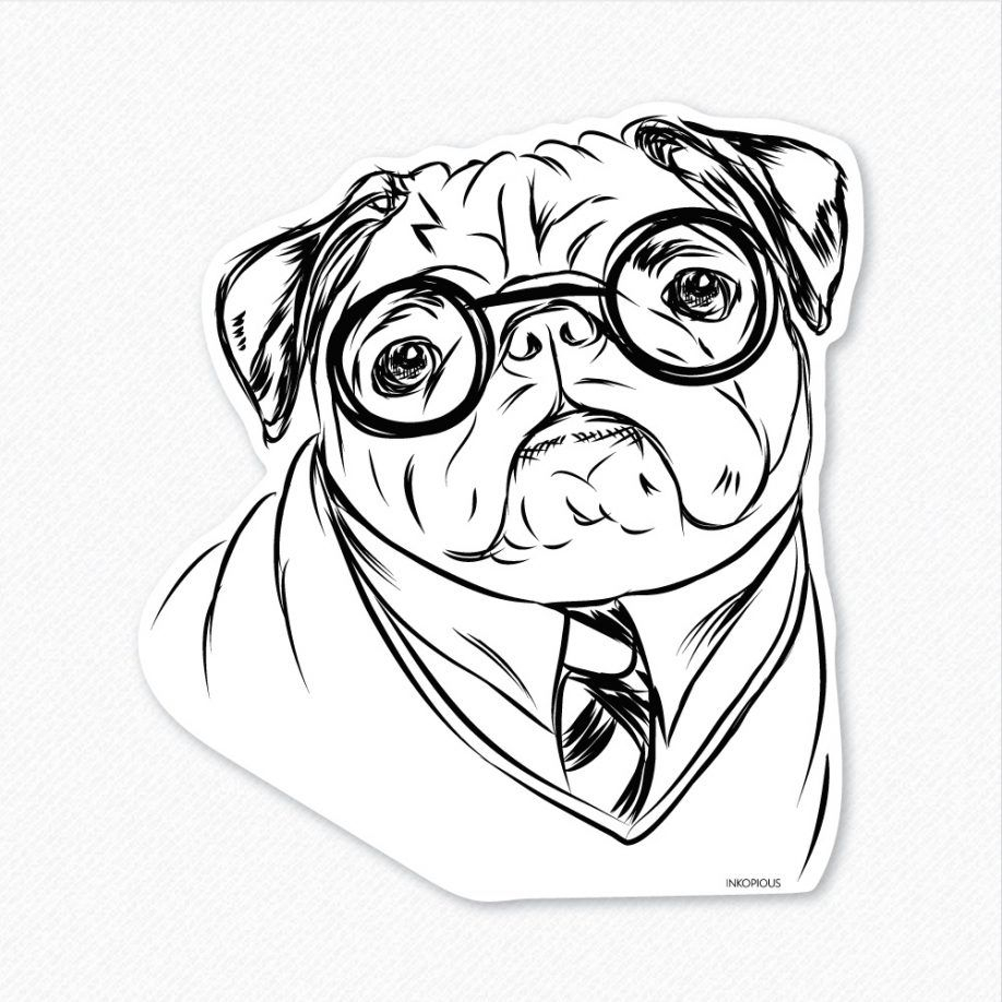 Pug Coloring Pages Christmas Pug Coloring Pages Printable