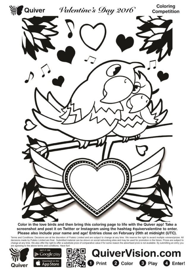 Quiver Coloring Pages Diary Of A Techie Chick Quivers Augmentedreality Valentines