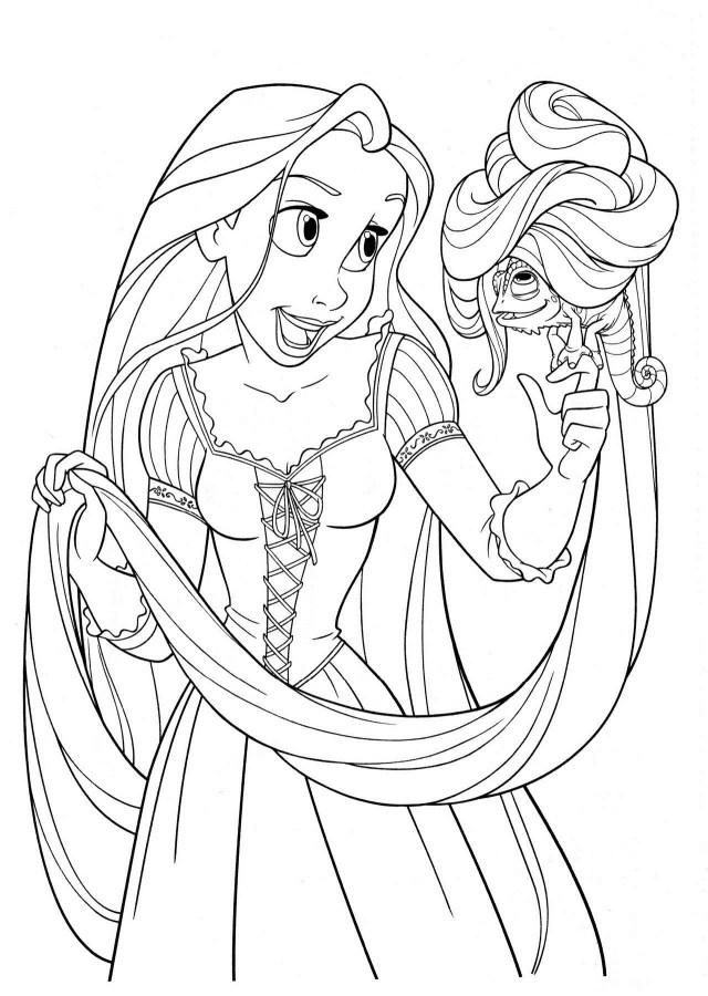 Quiver Coloring Pages Tangled Rapunzel Filled Coloring Book Pages Printable Popular