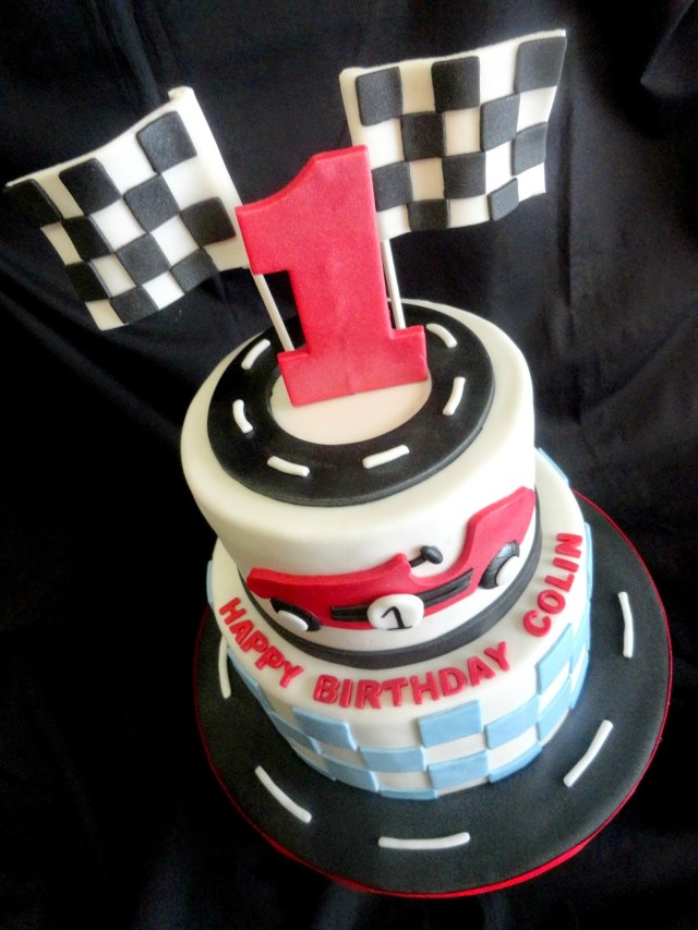 Race Car Birthday Cake My Pink Little Cake Race Car Theme 1st Birthday Cake