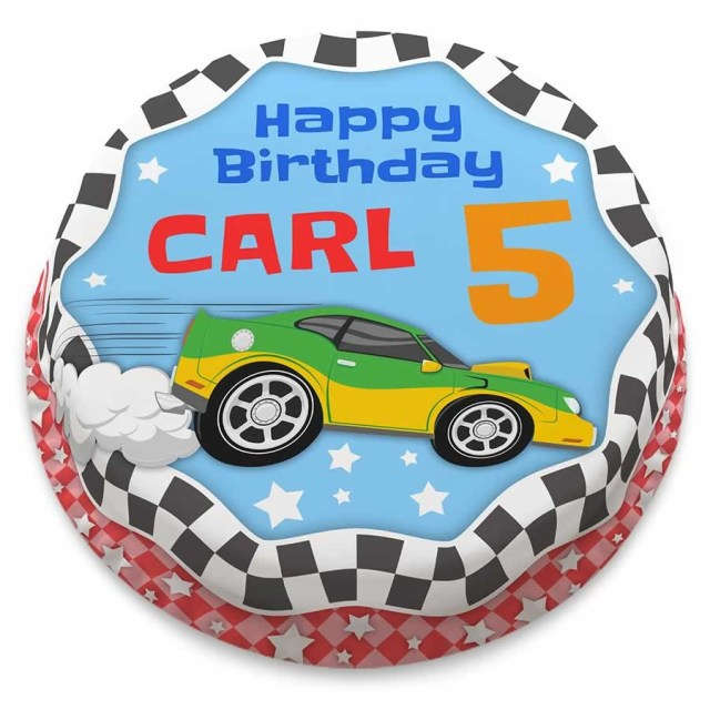 Race Car Birthday Cake Personalised Hotrod Car Cake Bakerdays