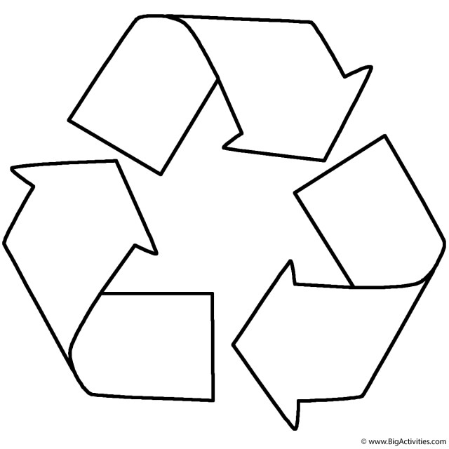 Recycling Coloring Pages Recycle Coloring Page Earth Day