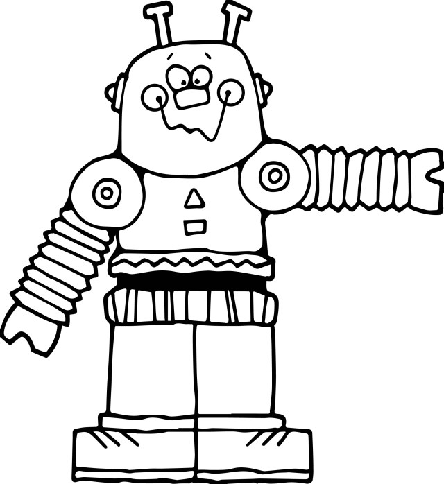 Robot Coloring Page Cute Big Robot Coloring Page Wecoloringpage
