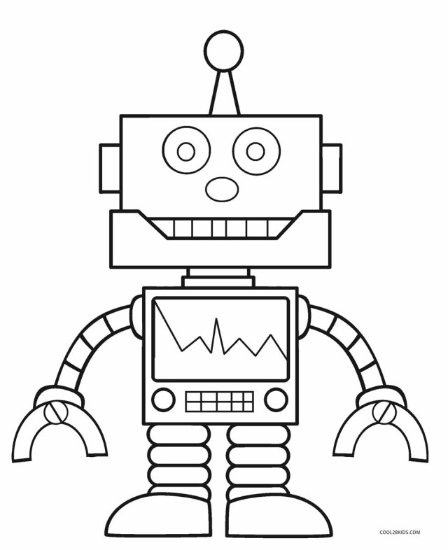 Robot Coloring Page Free Printable Robot Coloring Pages For Kids Cool2bkids
