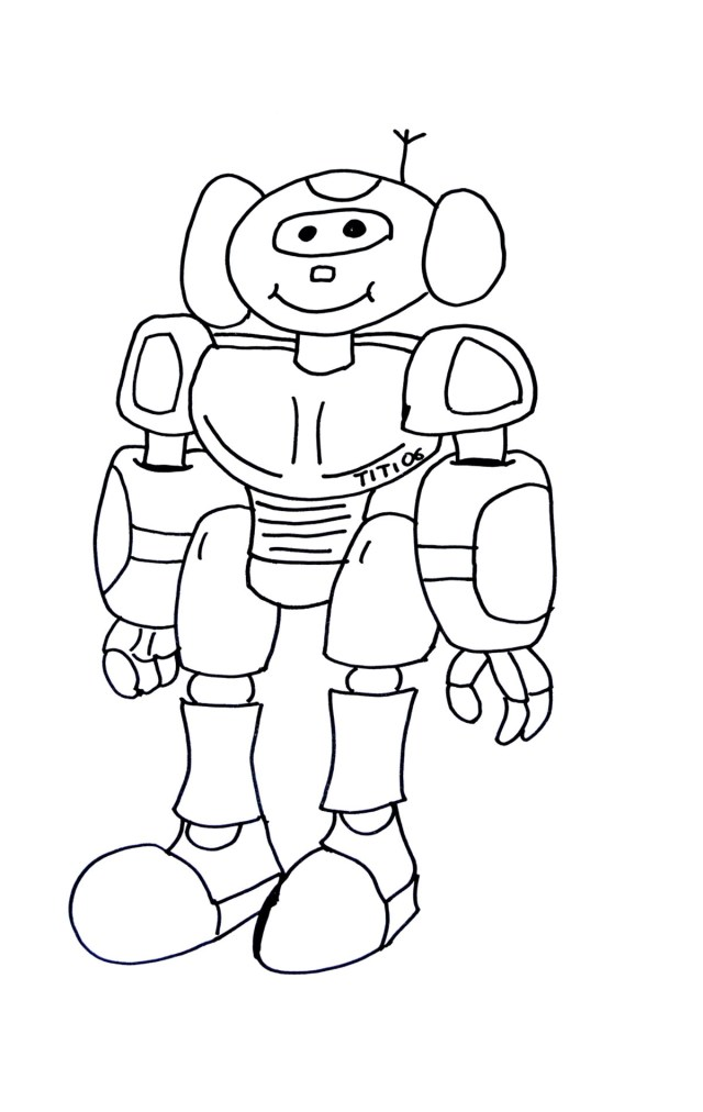 Robot Coloring Page Funny Robot Robots Coloring Pages For Kids To Print Color