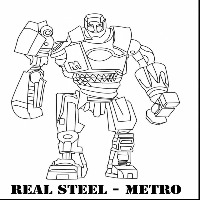 Robot Coloring Page Real Steel Atom Coloring Pages At Getdrawings Free For