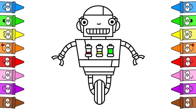 Robot Coloring Page Robot Coloring Page Draw Robot Easy Drawing Robots For Kids