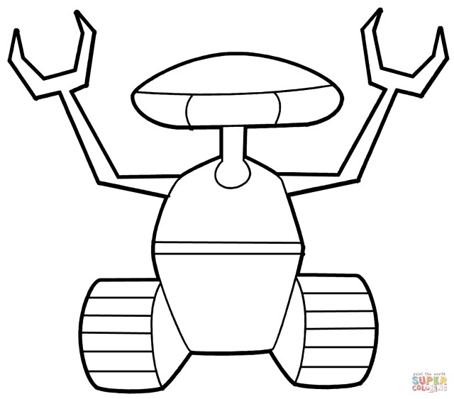 Exclusive Picture Of Robot Coloring Page Birijus Com