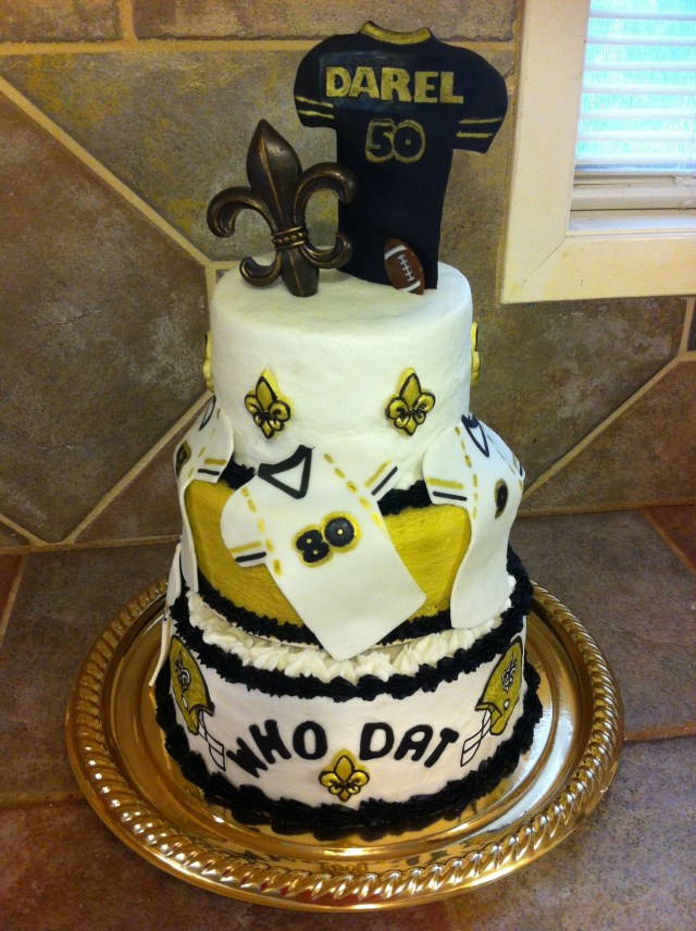 Saints Birthday Cake New Orleans Saints 50th Birthday Cake Cakes And Crafts In 2018