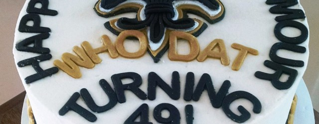 Saints Birthday Cake New Orleans Saints Birthday Cake With Fleur De Lis Border