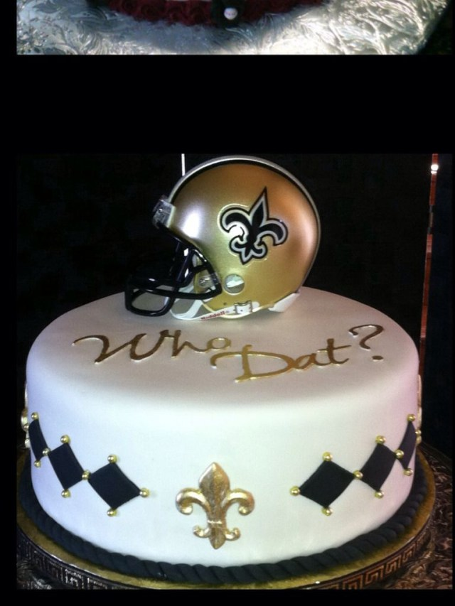 Saints Birthday Cake New Orleans Saints Cake Want This For My Birthday New Orleans