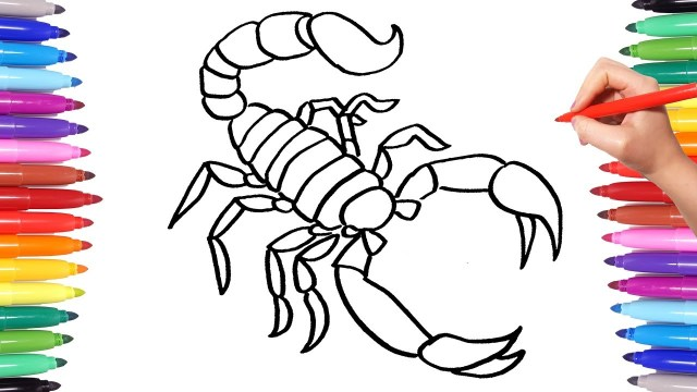 Scorpion Coloring Pages Colorful Scorpion Coloring Pages Animal Coloring Book For Kids