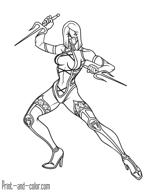 Scorpion Coloring Pages Mortal Kombat Coloring Pages Print And Color