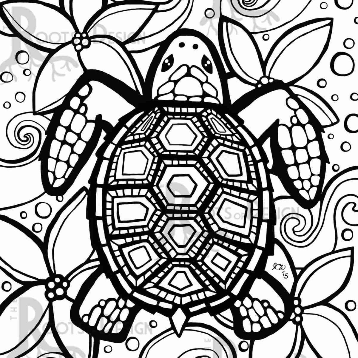 - 21+ Wonderful Image Of Sea Turtle Coloring Page - Birijus.com