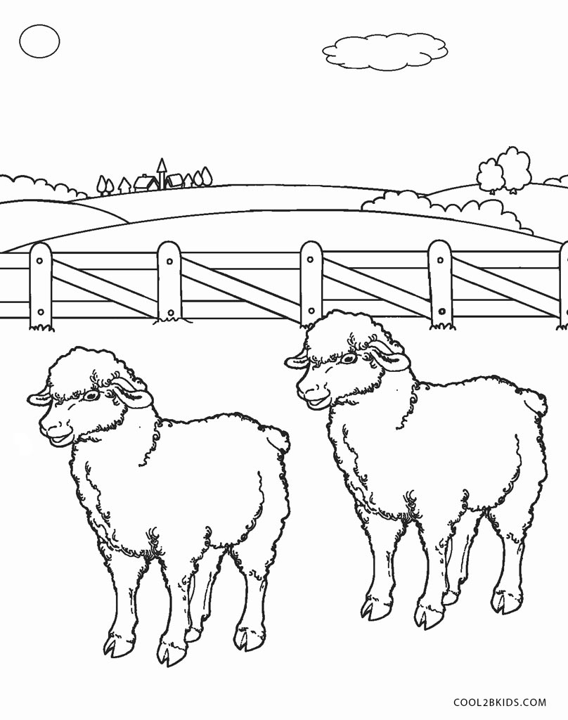 Sheep Coloring Page Free Printable Sheep Face Coloring Pages For Kids Cool2bkids