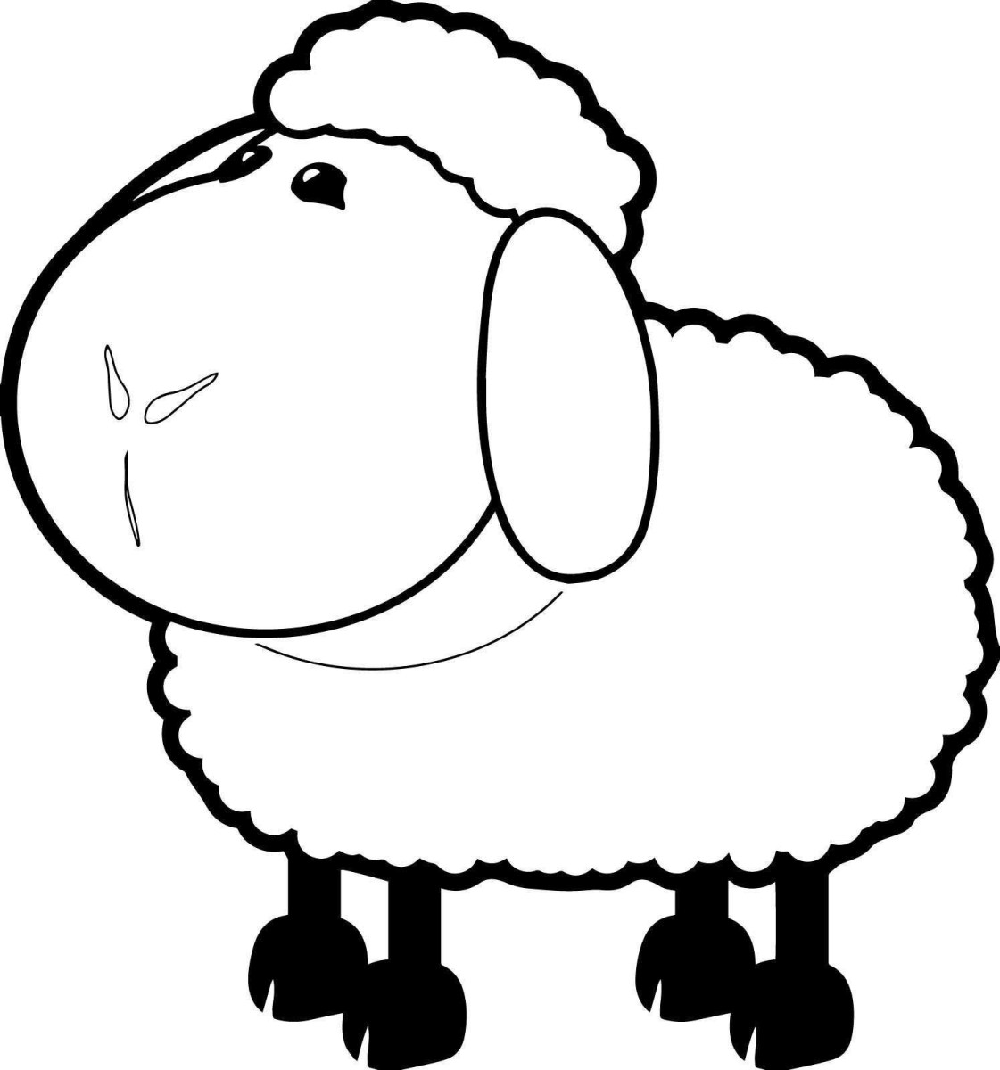 Sheep Coloring Page Goat Coloring Pages Dessin De Pages Colorier Sheep Coloring Page