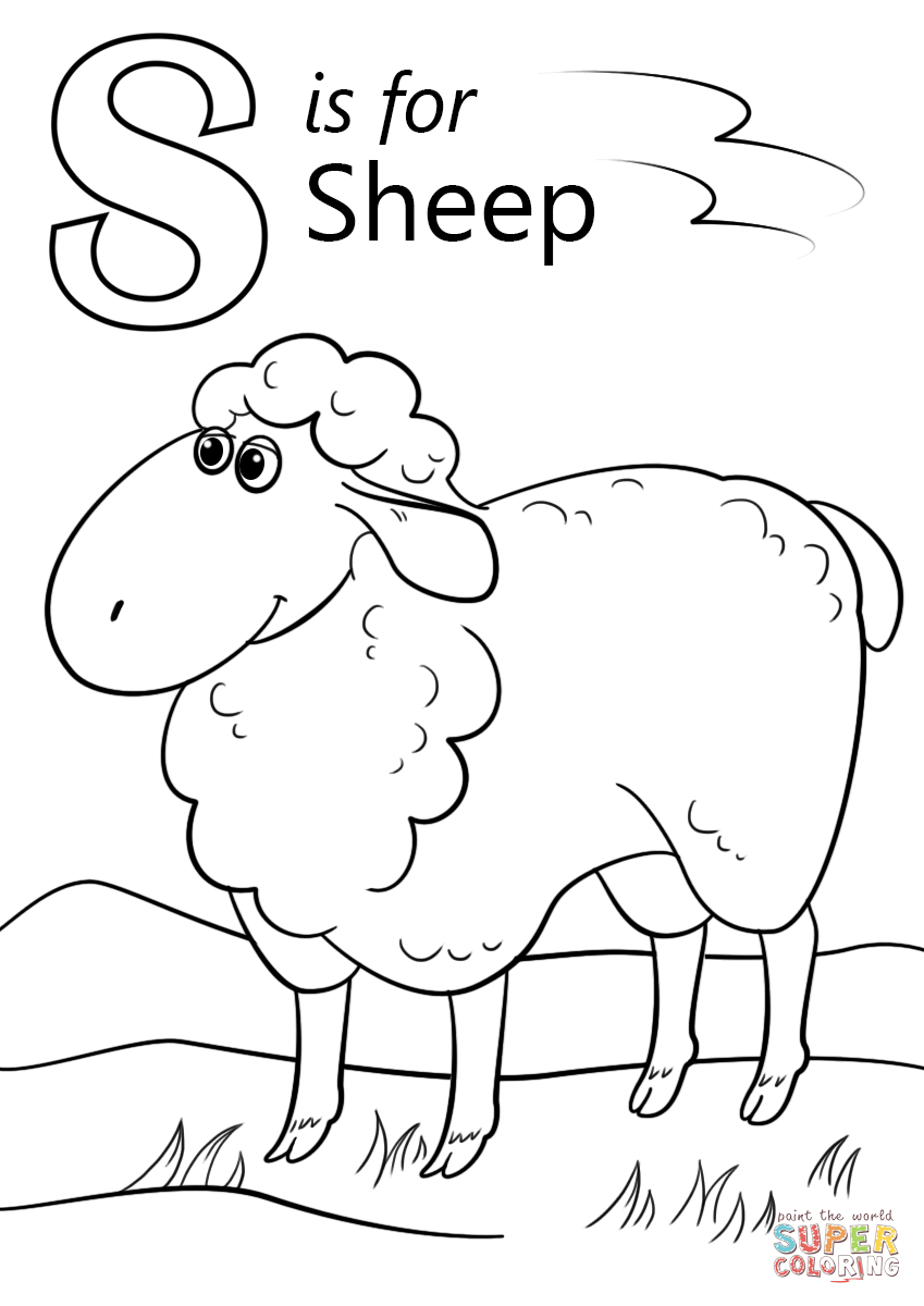 Sheep Coloring Page Letter S Is For Sheep Coloring Page Free Printable Coloring Pages