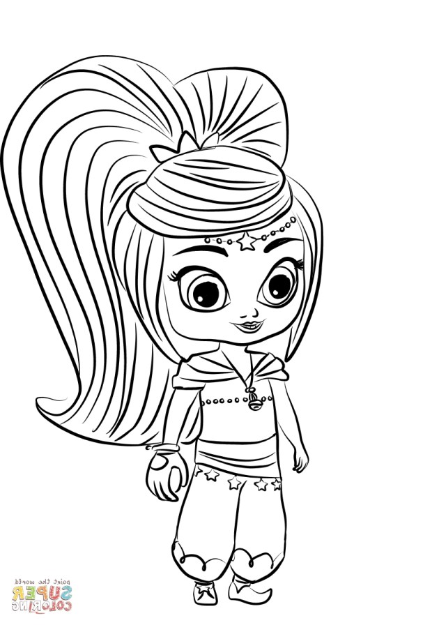 Shimmer And Shine Coloring Pages Coloring Pages Shimmer And Shine Aq1h Leah From Shimmer And Shine