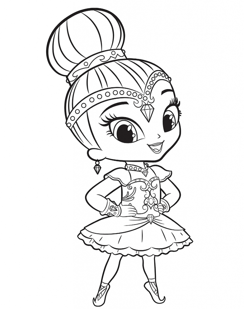 Shimmer And Shine Coloring Pages Shimmer And Shine Coloring Pages Coloring Pages For Kids