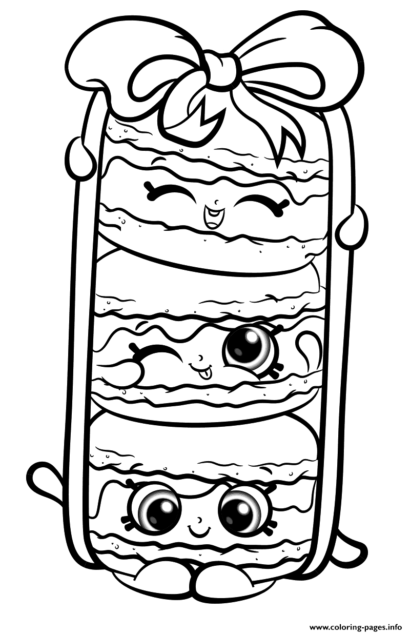 Shopkins Coloring Pages Stack Le Macarons From Shopkins Season 8
