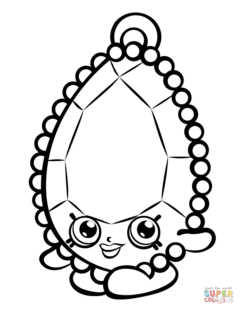 Shopkins Coloring Pages To Print Brenda Brooch Shopkin