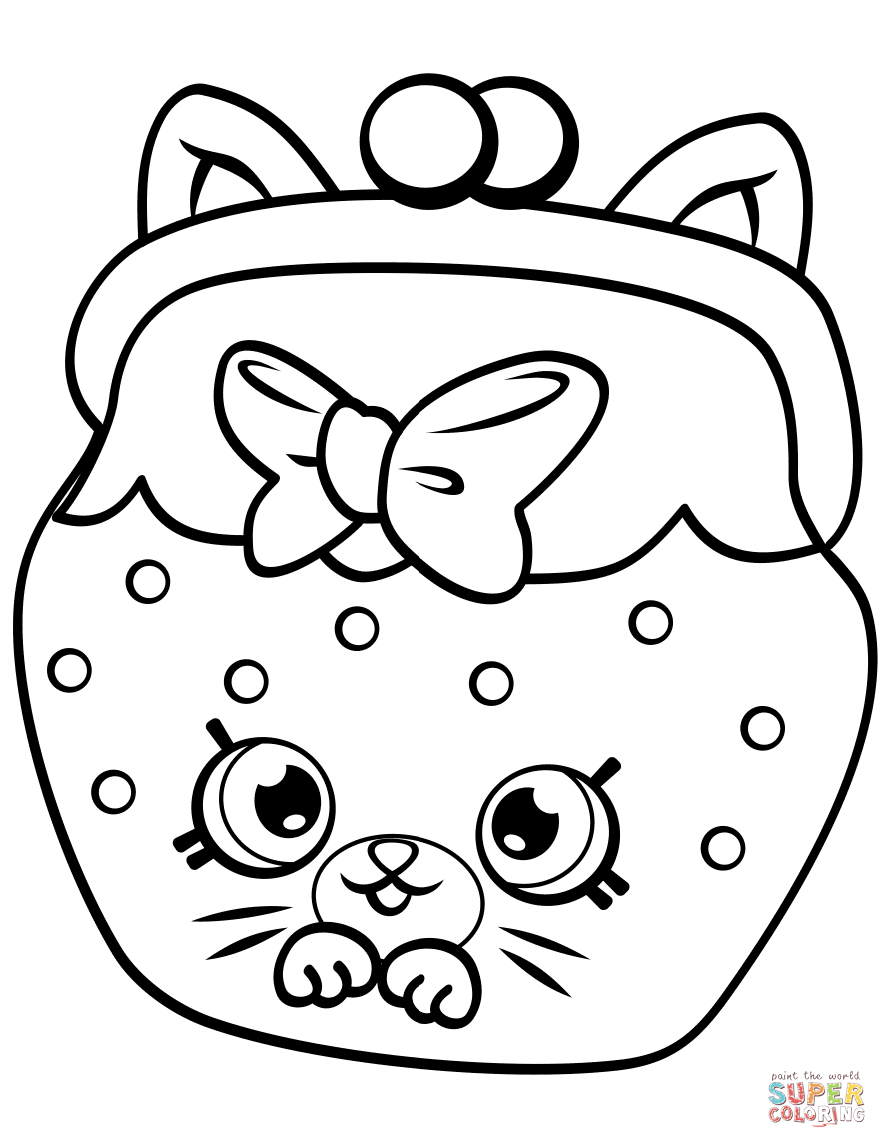 Shopkins Coloring Pages To Print Petkins Cat Snout Shopkin